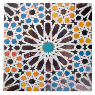 Islamic Star Pattern Ceramic Photo Tile