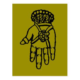 Islamic Symbol: Hamsa Postcard