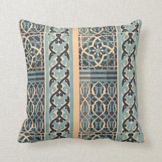 Islamic tile design throw pillow