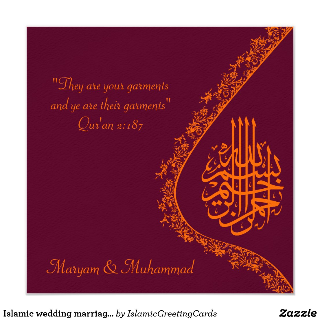 Cheap Muslim Wedding Invitation Cards Uk ~ Yaseen for .