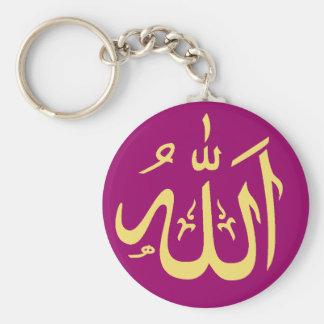Islámico adaptable de Alá Llavero Redondo Tipo Pin