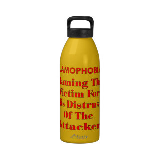 Islamophobia Blaming The Victim For His Distrust Water Bottle