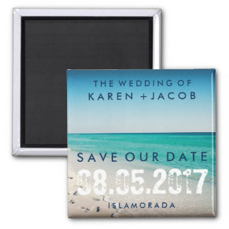 Beach Wedding Save The Date Refrigerator Magnets Zazzle