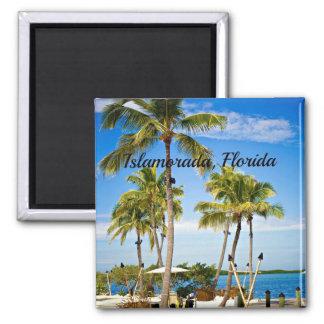 Islamorada, Florida Palm Trees 2 Inch Square Magnet