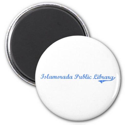 Islamorada Public Library Florida Classic Design 2 Inch Round Magnet