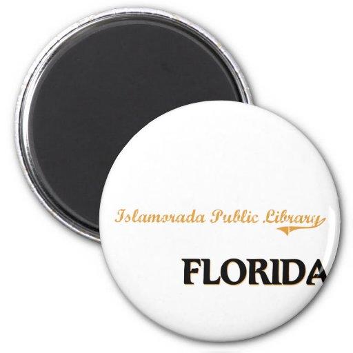 Islamorada Public Library Florida Classic 2 Inch Round Magnet