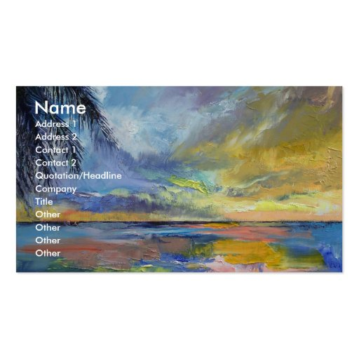 Islamorada Sunset Double-Sided Standard Business Cards (Pack Of 100)
