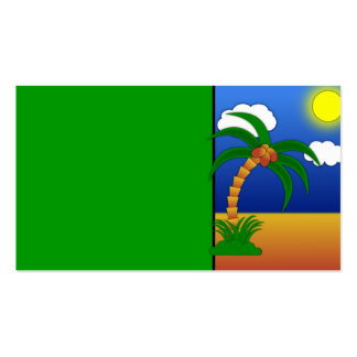 island-41170 island palm tree cartoon media clip p Double-Sided standard business cards (Pack of 100)