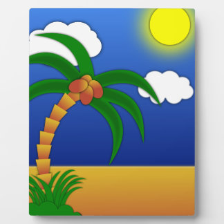 island-41170 island palm tree cartoon media clip p photo plaques