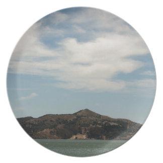 Island Across The Bay Plate