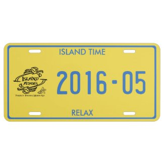 Island Adam Caribbean License Plate