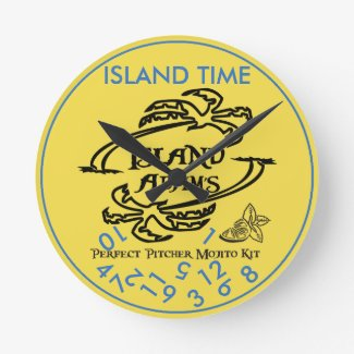 Island Adam Island Time Wall Clock