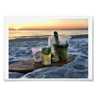 Island Adam Mojito Kit Beach Sunset Photo Print