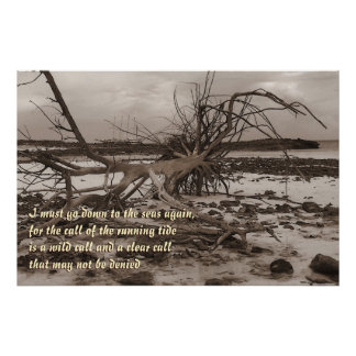 Island  Anchored Ship Poem Print