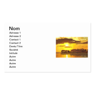 Island and sunset business card