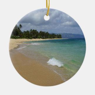 Island Beach Ceramic Ornament