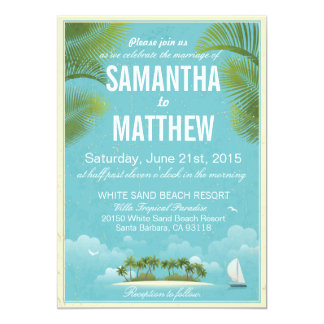 Island Beach Destination Bridal Shower Card