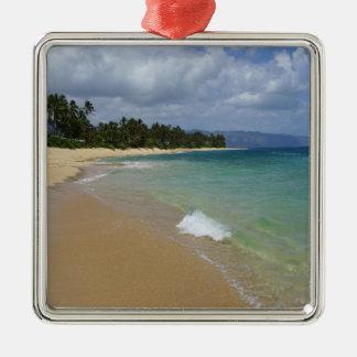 Island Beach Metal Ornament