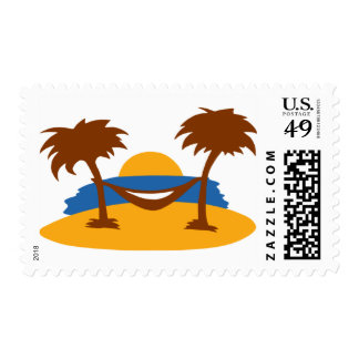 Island - Beach Postage Stamp