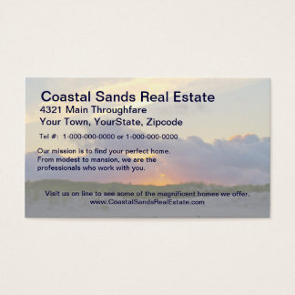 Island Beach State Park Sunset Over Dunes Business Card