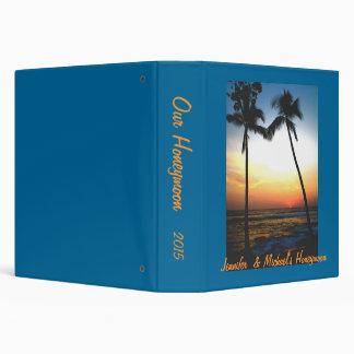 Island Beach Sunset Photo  Album 3 Ring Binders