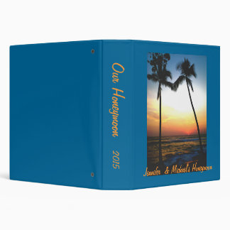 Island Beach Sunset Photo  Album Binder