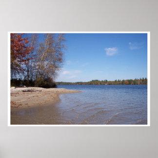 Island Beachfront on the Lake Poster