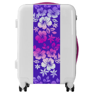 Island Blend Hawaiian Hibiscus Floral Luggage