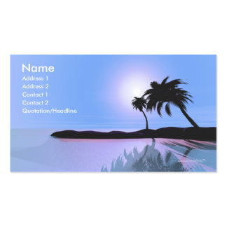 Island Blue - Business Size Double-Sided Standard Business Cards (Pack Of 100)