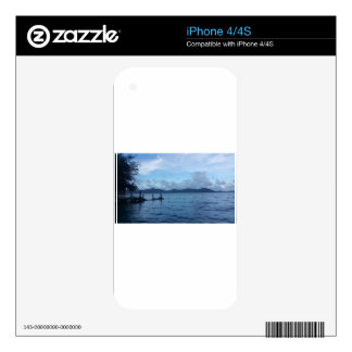 Island Boat Dock Decals For iPhone 4S