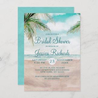 Island Breeze Tropical Beach Wedding Bridal Shower Invitation