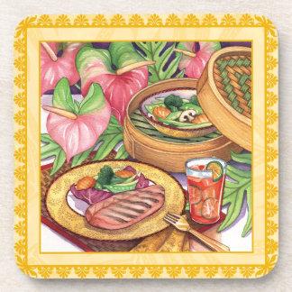 Island Cafe Bamboo Steamer Drink Coaster