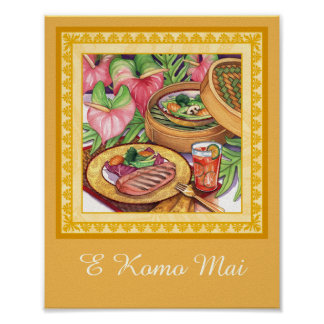 Island Cafe - Bamboo Steamer Poster