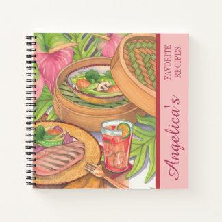 Island Cafe - Bamboo Steamer Recipe Notebook