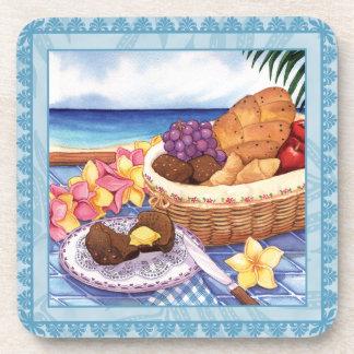 Island Cafe Bread Basket Drink Coaster