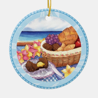 Island Cafe - Breakfast Lanai Ceramic Ornament