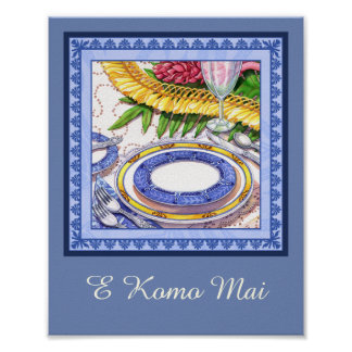 Island Cafe - Ginger Lei Place Setting Poster