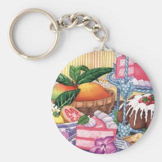 Island Cafe - Guava Chiffon Desert Keychain