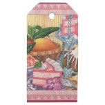 Island Cafe - Guava Chiffon Desert Wooden Gift Tags