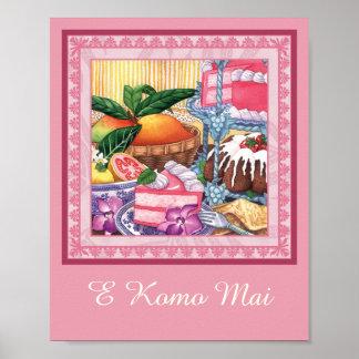 Island Cafe - Guava Chiffon Dessert Poster