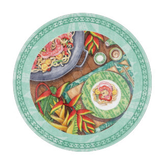 Island Cafe - Heliconia Wok Cutting Board