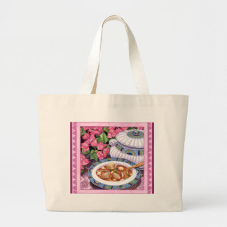 Island Cafe - Soup is Served Large Tote Bag