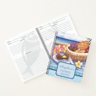 Island Cafe - Tropical Breakfast Recipe Notebook
