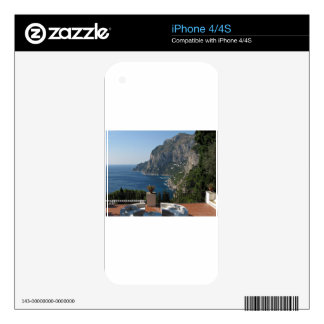 Island Capri, a Nice Terrace View iPhone 4S Decal