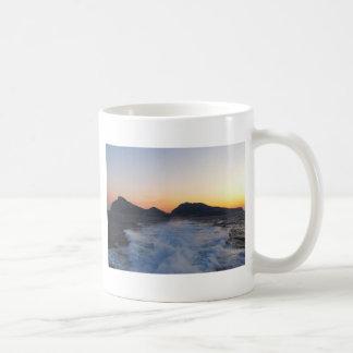 Island Capri at Sunset Classic White Coffee Mug