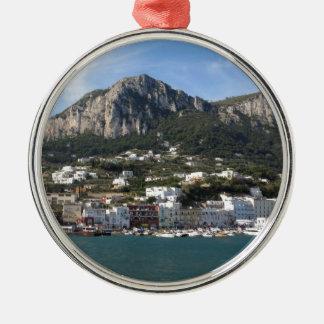 Island Capri panoramic Sea view Metal Ornament