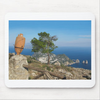 Island Capri view from the Monte Solaro Mouse Pad