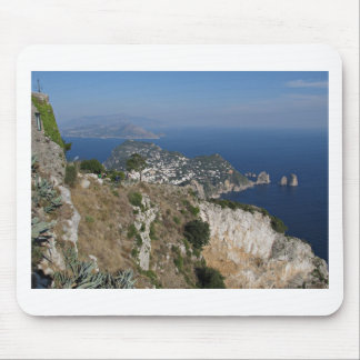 Island Capri view with Faraglioni at the back Mouse Pad