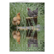 Island Chickens Thank You Card