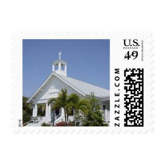 Island Church Postage Stamp